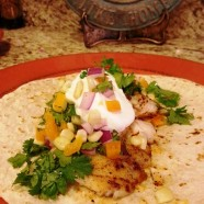 Grilled Fish Tacos and Crunchy Corn Salsa